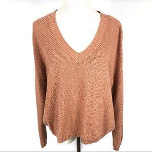 SOMEDAYS LOVIN Pink V-Neck Slouchy Sweater